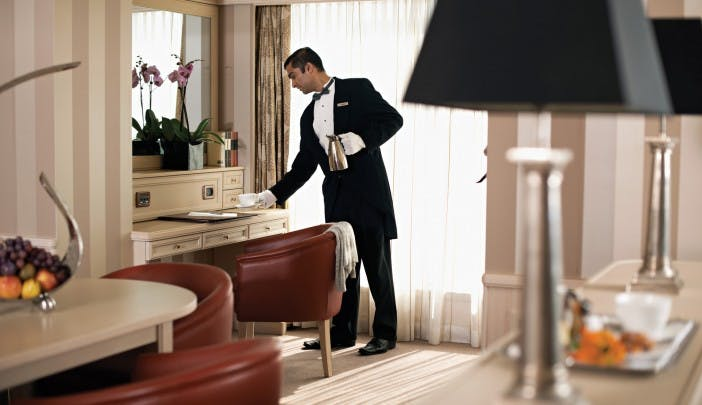 The incredible Owner's Suite on Silversea's Silver Shadow comes with 24-hour Butler service.