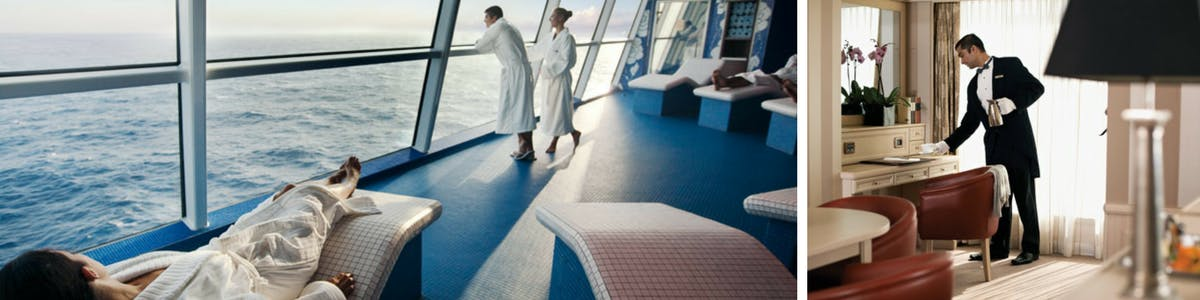 Onboard spa during a world cruise.