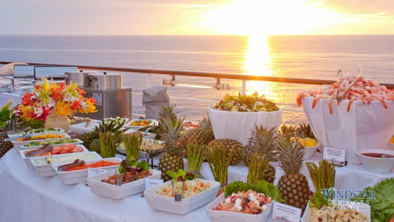 Brunch Buffet on Deck - Windstar Cruises