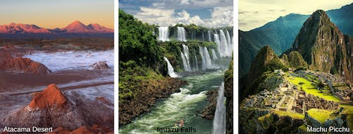 South America expedition cruise locations
