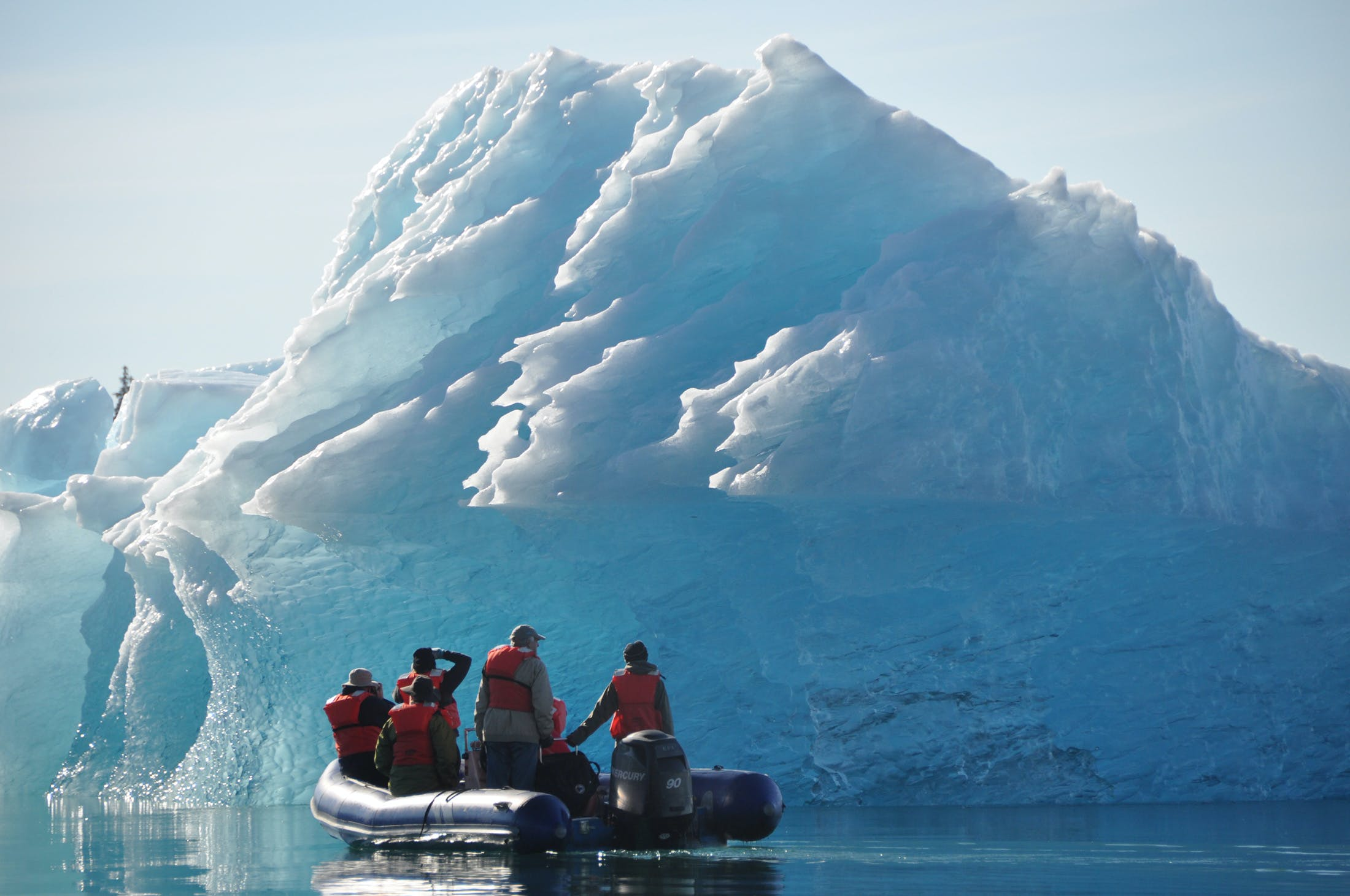 Zodiac boats will transport you to the most rugged and remote parts of every iconic place you visit.