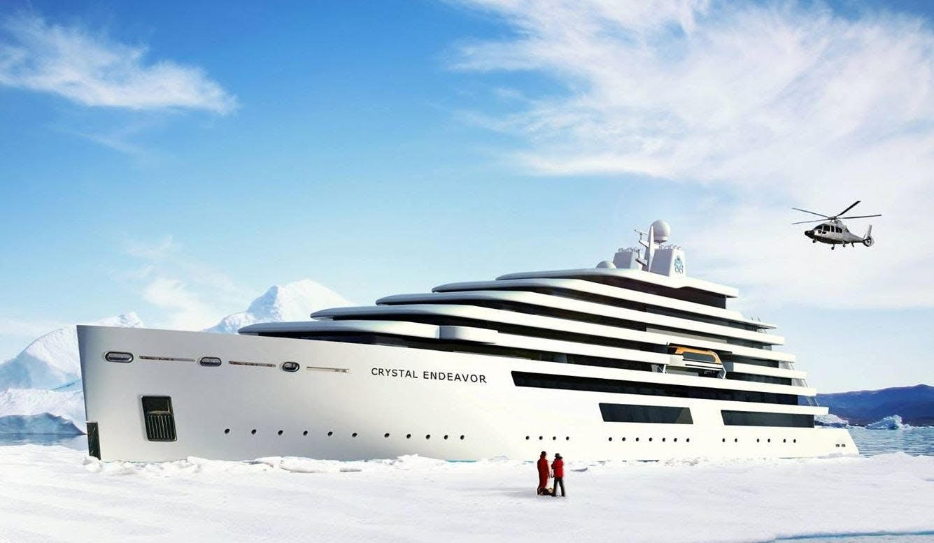 Artist's rendering of Crystal Endeavor.
