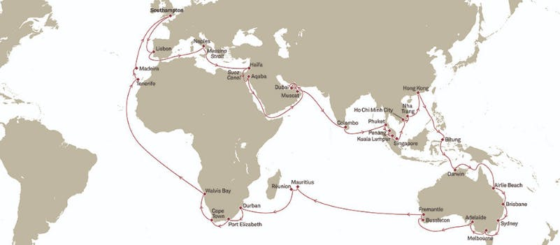 Cunard 2020 World Cruise