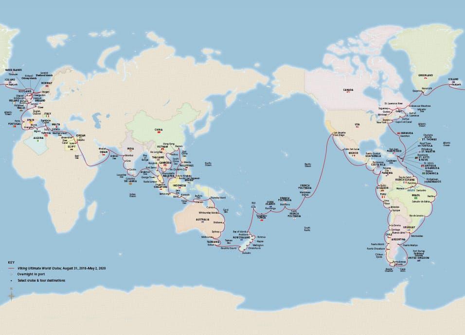 Ultimate World Cruise Itinerary