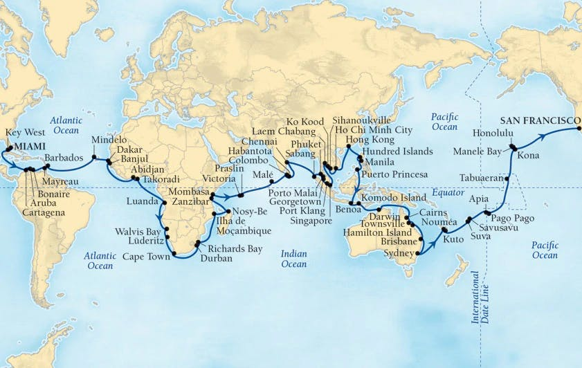World Cruise Itinerary