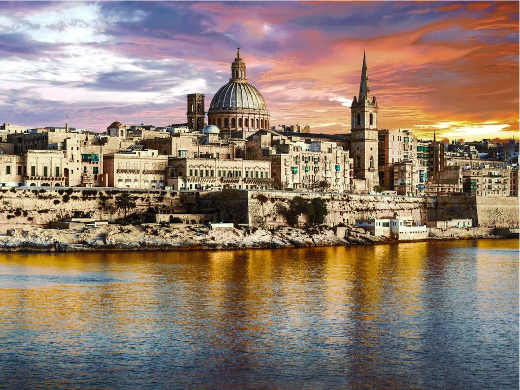 Sunset over Valetta, Maletta is one of the most stunning sites to behold in all of the Mediterranean.