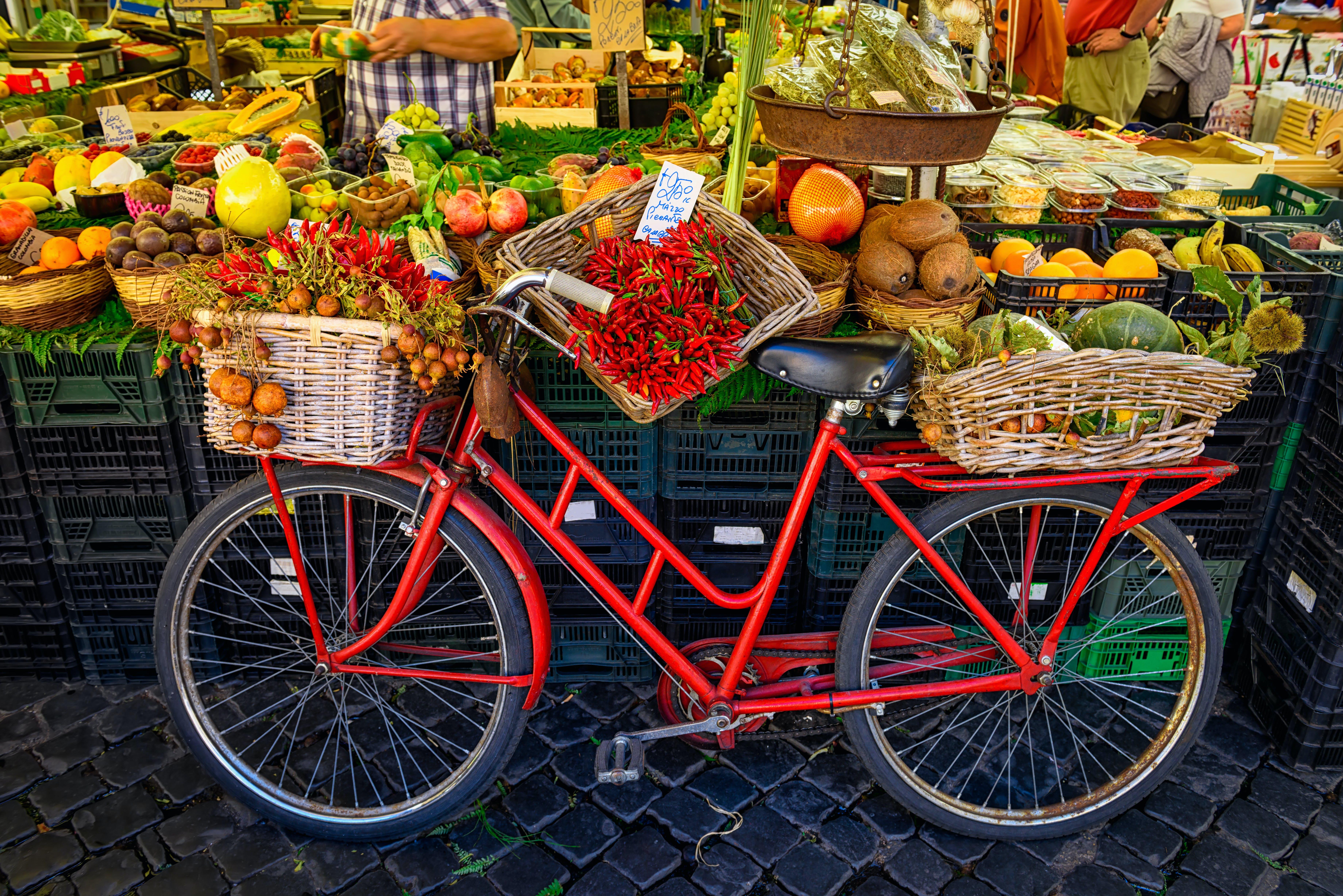 Farmers Market in Rome, Italy