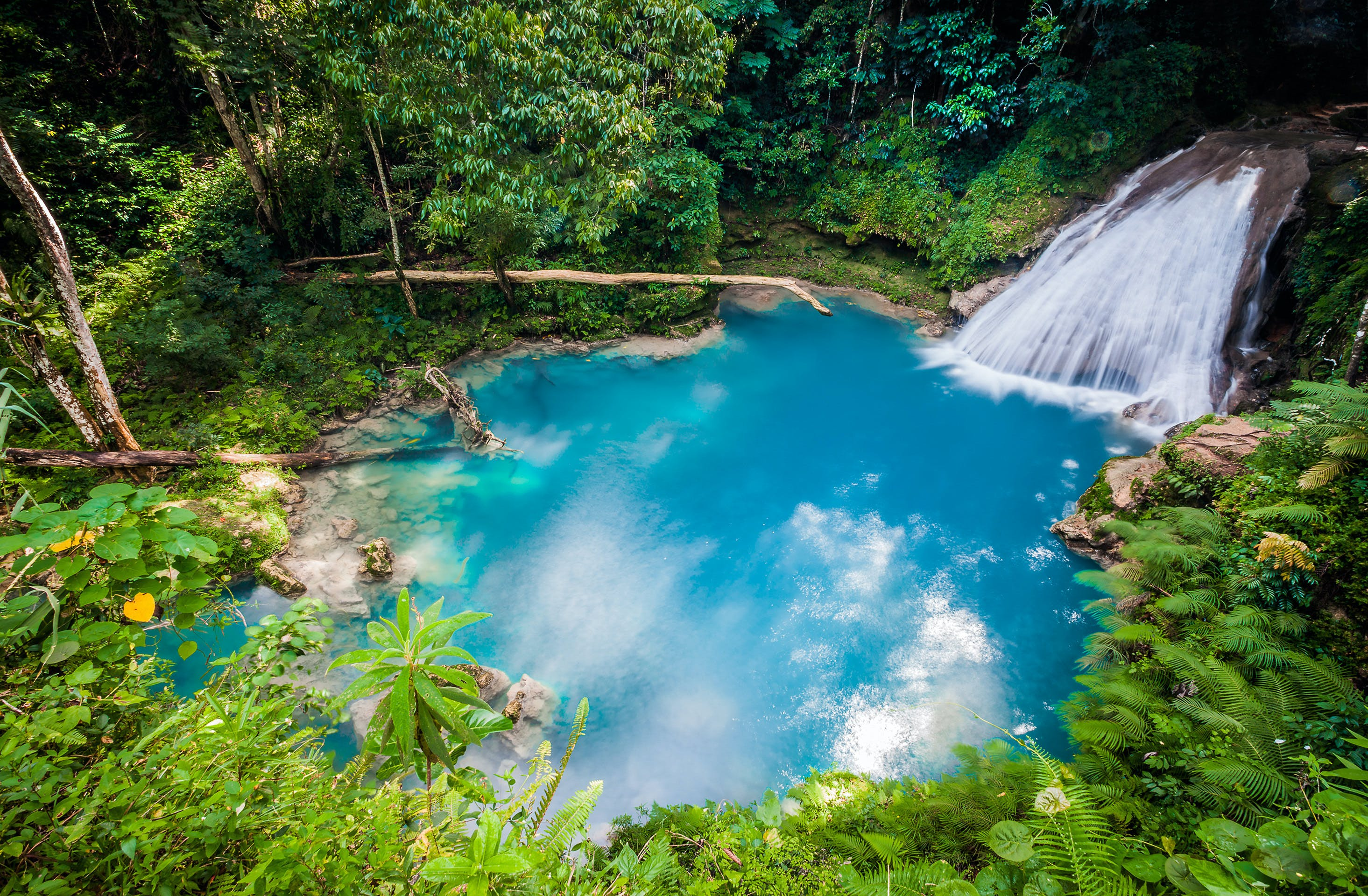 The Blue Hole Waterfall in Ocho Rios is stunning and still considered a hidden gem to most travelers.