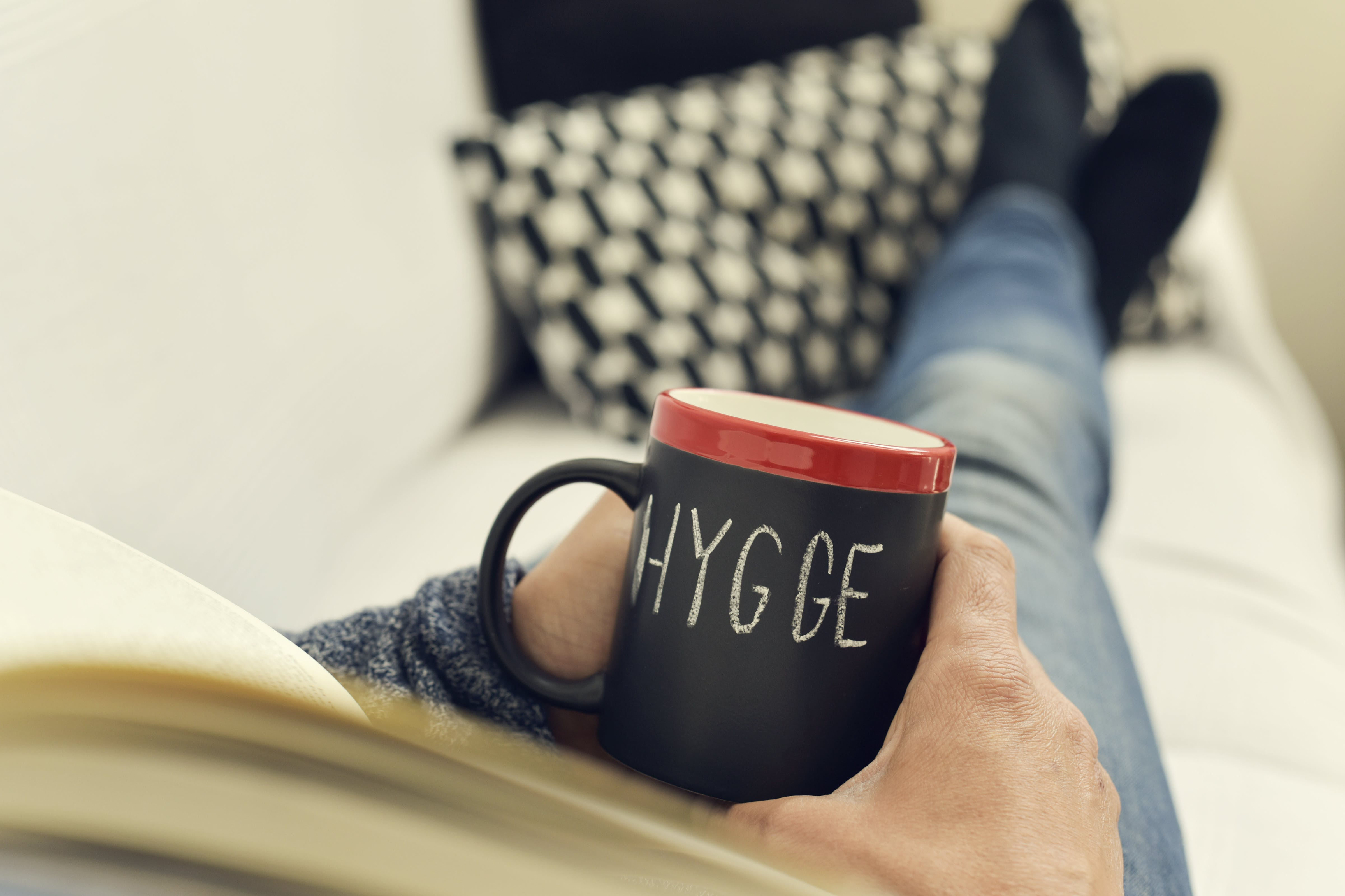 Hygge means coziness or warmth.