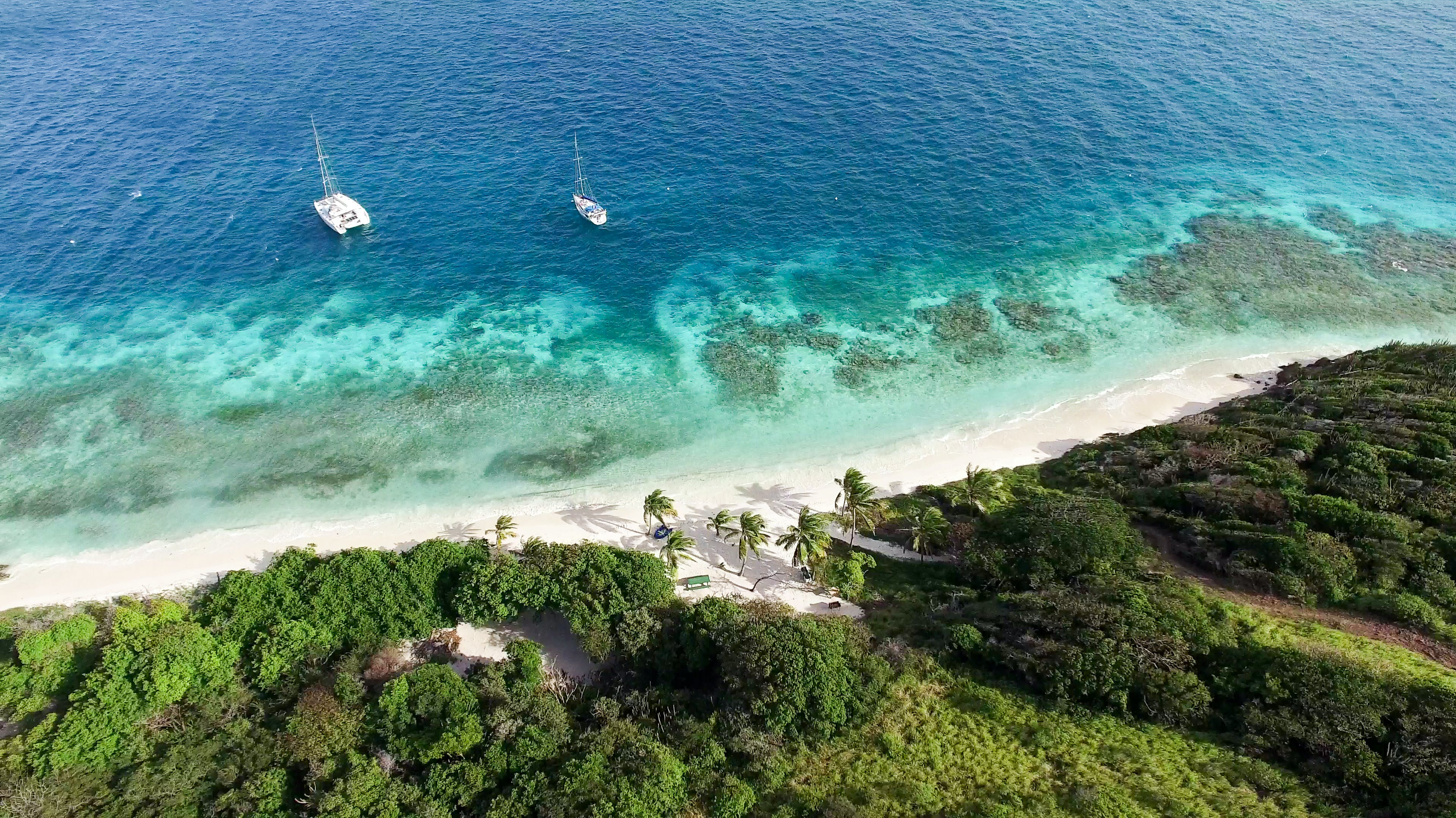 Sun, sand, and sea await in the unspoiled islands of the Grenadines.