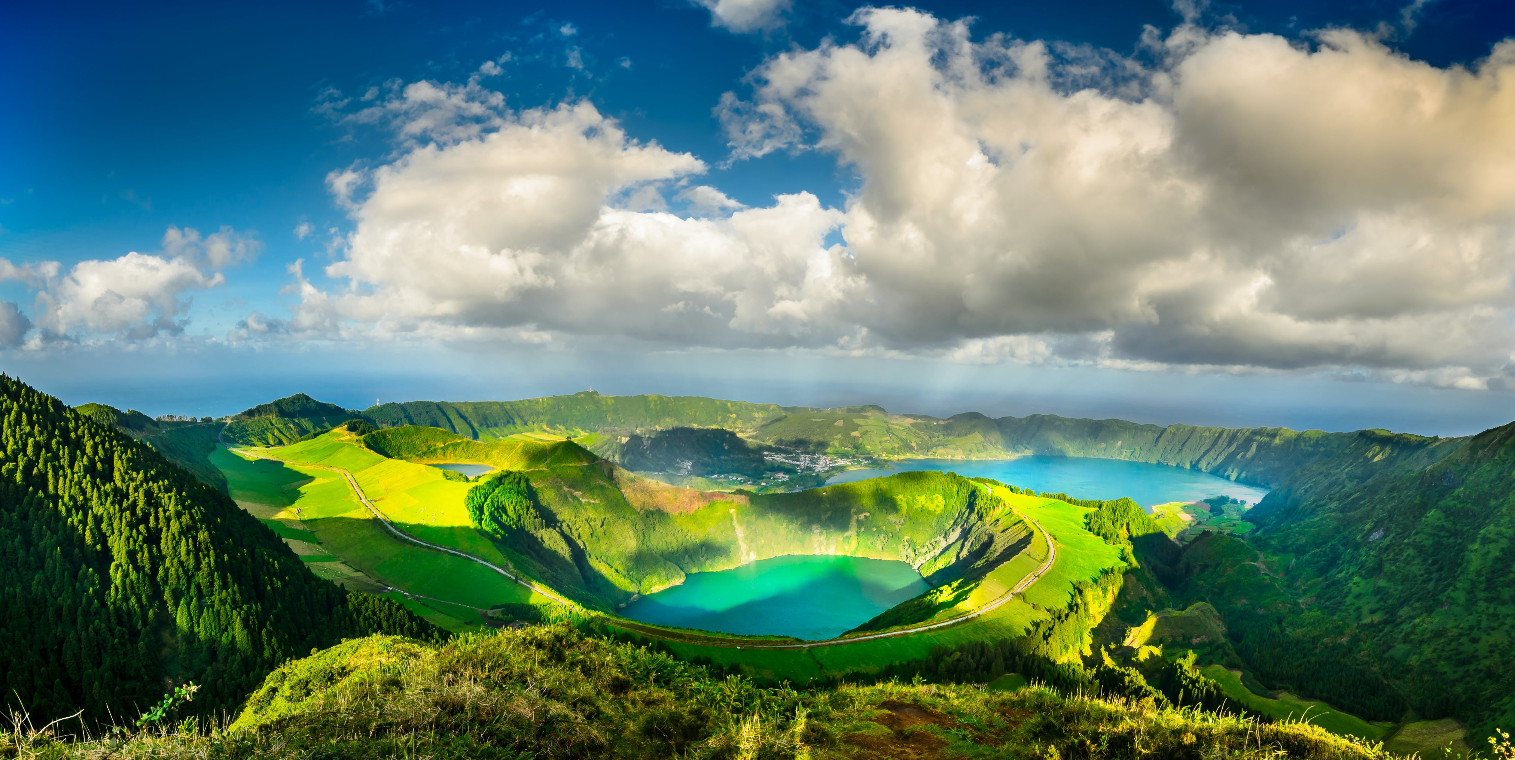 The Blue and Green Lakes of The Azores is a gem in the Atlantic.