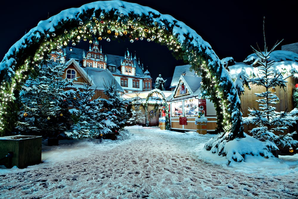 Christmas Market in Coburg, Germany.