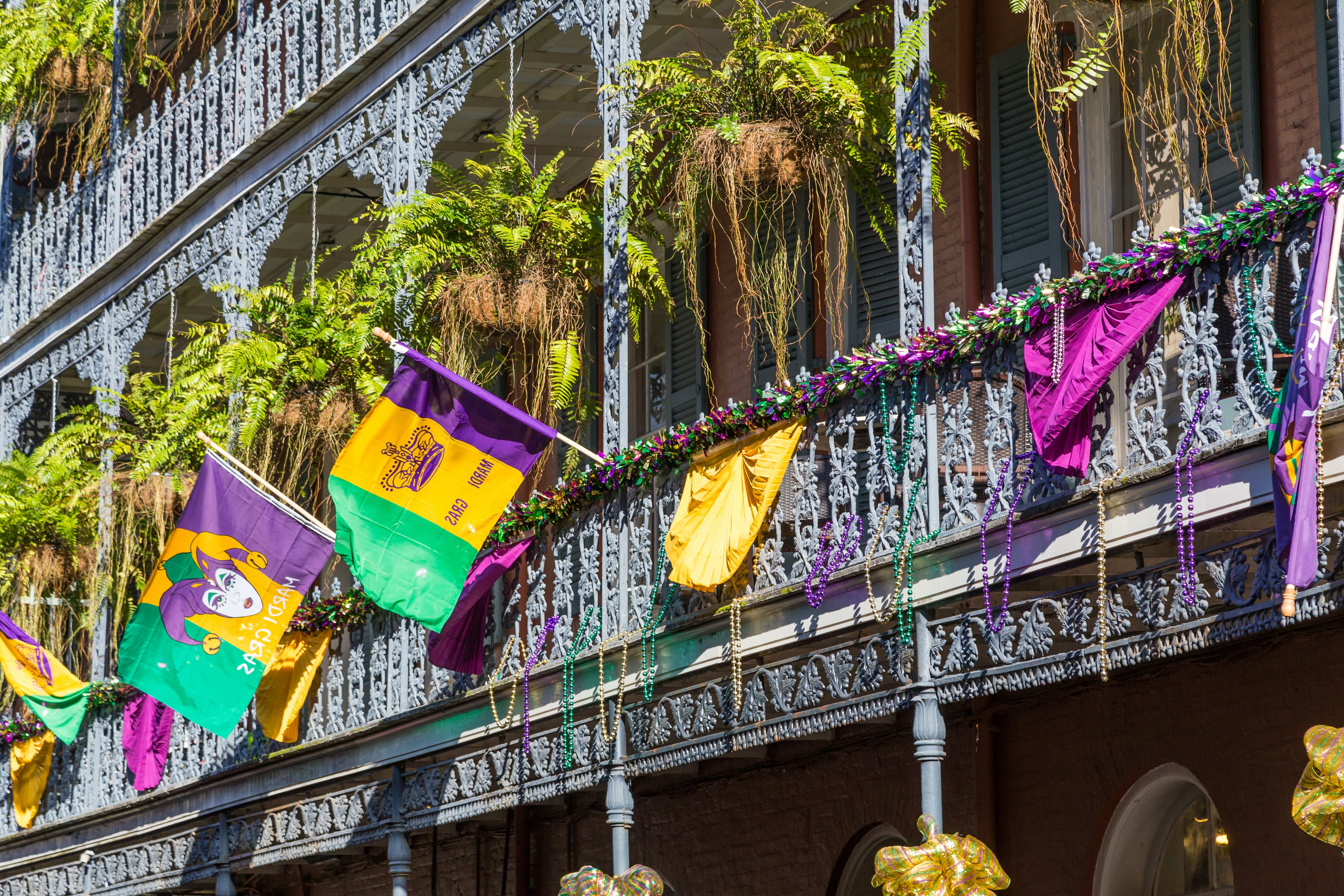 Watch the French Quarter come alive during Mardi Gras.